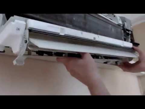 Как разобрать сплит систему панасоник внутренний блок видео