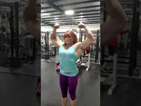 Shannon Nash flexing