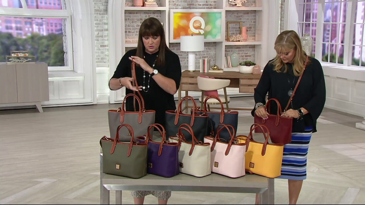 c24f1212411275 Dooney & Bourke Pebble Leather Brielle Satchel on QVC - YouTube