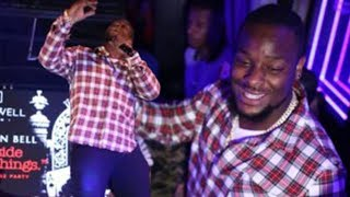 Le'Veon Bell TAKES OVER Miami Party Scene! Performs Rap LIVE!