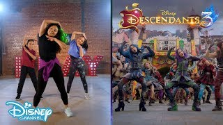 Descendants 3   'Good T๐ Be Bad' Dance Tutorial 🎶💥   Disney Channel UK