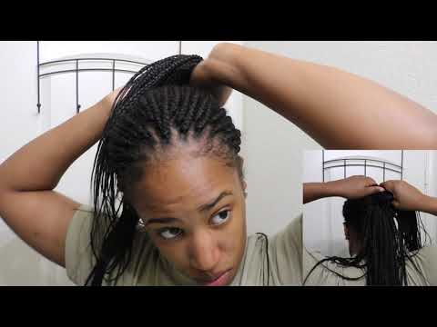 How To   Military Bun With Box Braids