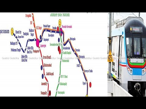 Hyderabad Metro Train Route Map Details | Hyderabad Metro Latest News Updates | Metro Stations Map