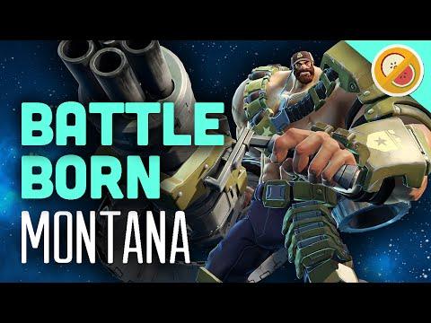 MANTANA DESTROYS   Battleborn Montana Gameplay Multiplayer (Control)
