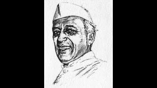 How to draw Pandit Jawaharlal Nehru face drawing step by step