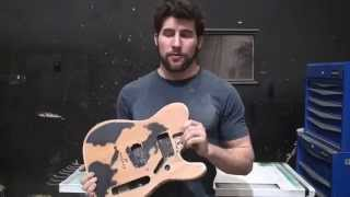 Repairing dents and damaged paint on a guitar - Memorial tribute guitar