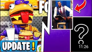 *NEW* Fortnite Update! | Today's Changes, 2 Secret Skins, Durr Burger Event!