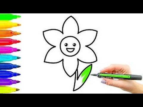 Livro De Coloracao Da Flor E Desenho Colorir Videos Para Criancas