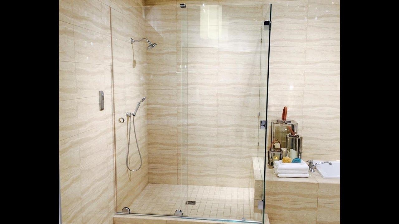 Shower Door kohler levity shower door installation photos : Essence Bypass Shower Enclosure - YouTube