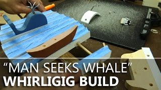 "The Building Of ""man Seeks Whale,"" Wind-powered Automaton (whirligig)"