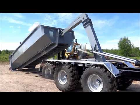CL44K22AGJ54 Agriculture Trailer - 44,000 lbs capacity with JIB - for 18' to 24' containers