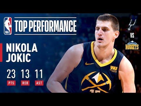 Nikola Jokic Notches a Triple-Double (23/13/11) vs. Spurs | February 13, 2018