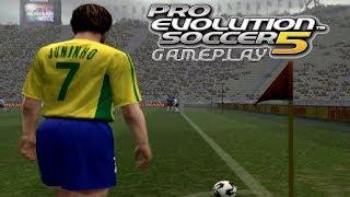 Pro Evolution Soccer 5 - Gameplay (Argentina vs Brazil) Playstation 2