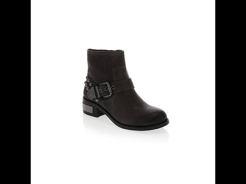 "Vince Camuto ""Windetta"" Leather Buckled Moto Ankle Boot"