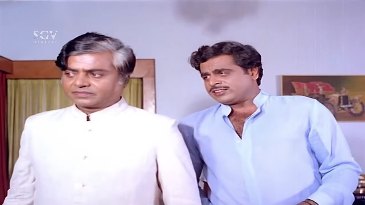 Ambarish Fooled & Takes Signature from Sundar Krishna Urs | Inspector Kranthikumar Kannada Movie