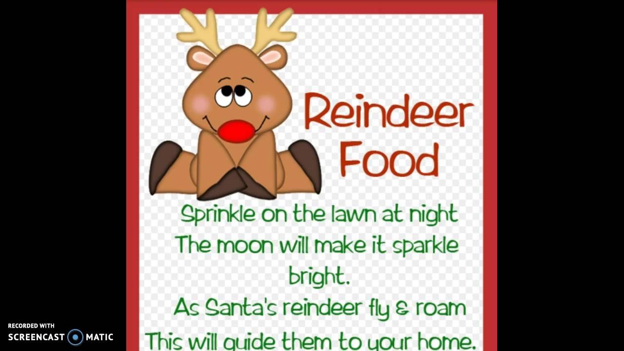 How To Make Magic Reindeer Food Youtube