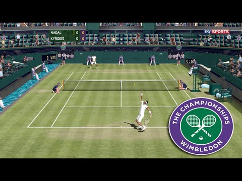 Tennis Elbow 2013 - WIMBLEDON 2016 - Rafael Nadal vs Nick Kyrgios GAMEPLAY 2015 (MAXOU PATCH)