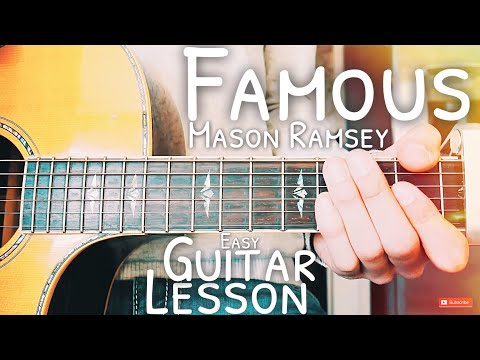 Famous Mason Ramsey Guitar Lesson for Beginners // Famous Guitar // Lesson #476