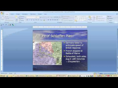 Lecture: Causes of World War I