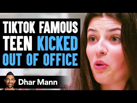 TikTok FAMOUS TEEN Kicked Out Of Office, Instantly Regrets It   Dhar Mann