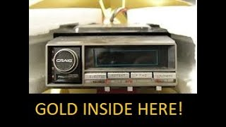 Scrapping a Car 8-Track Player for GOLD!  -Moose Scrapper