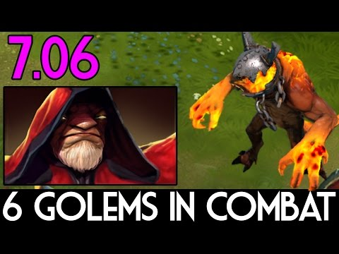 How To Have 6 Golems in 1 Combat - Warlock Dota 2 7.06