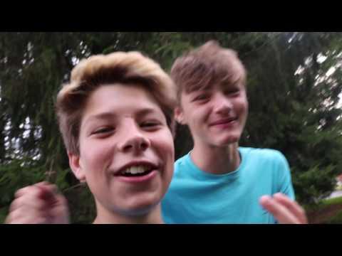 (Dylan Baker) trampoline hopping!!!! (got caught!)