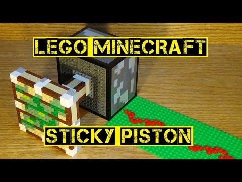 LEGO Minecraft Sticky Piston - YouTube