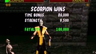 Mortal Kombat (1992): Scorpion gameplay