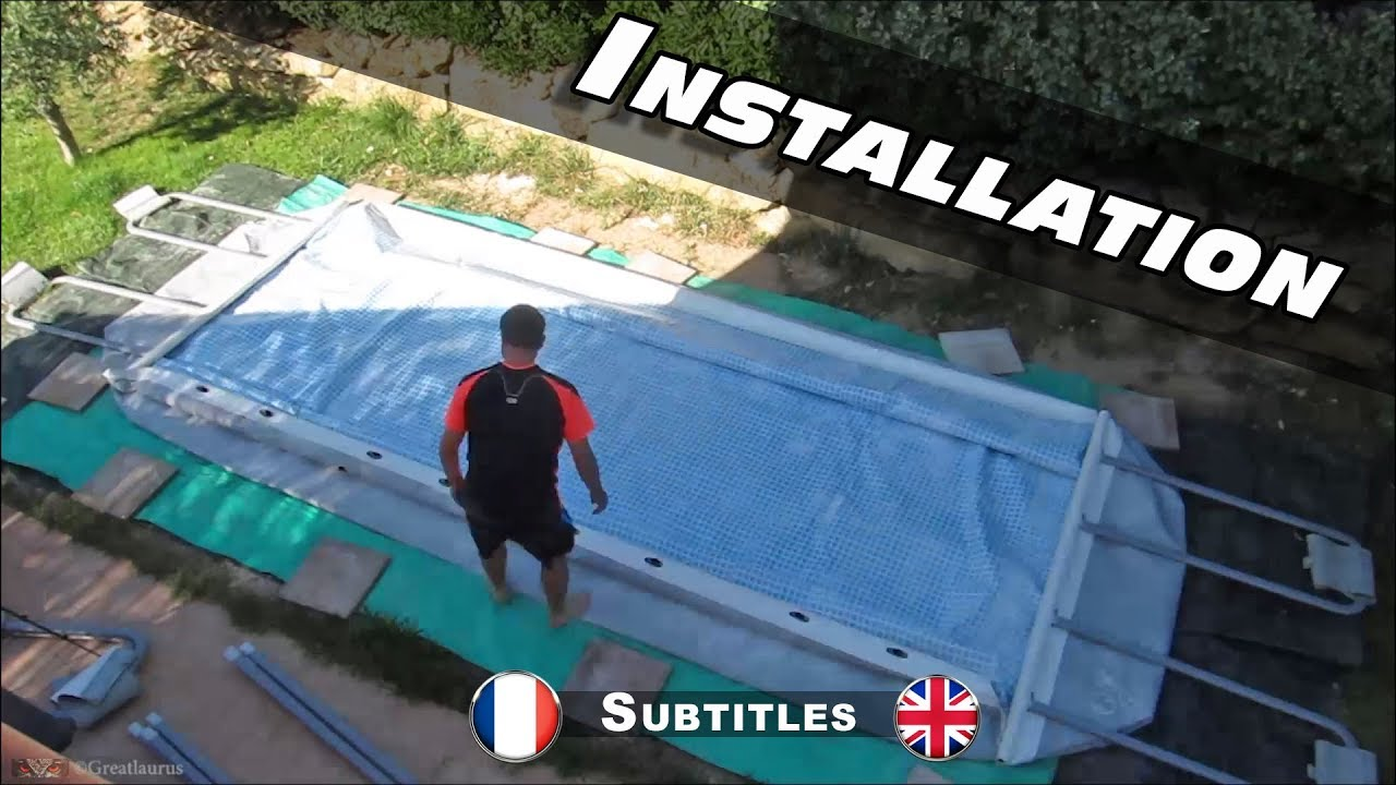 montage de ma piscine intex ultra frame rectangulaire youtube. Black Bedroom Furniture Sets. Home Design Ideas