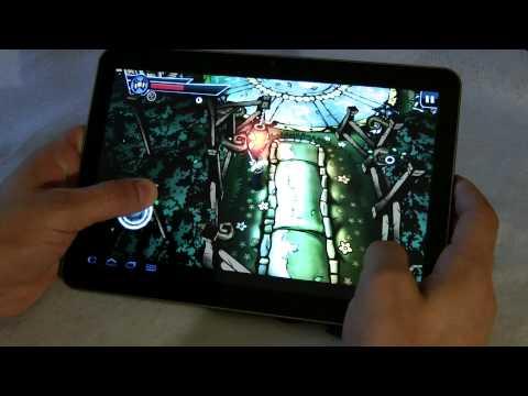 Galaxy Tab 10.1v test multimedia and Games