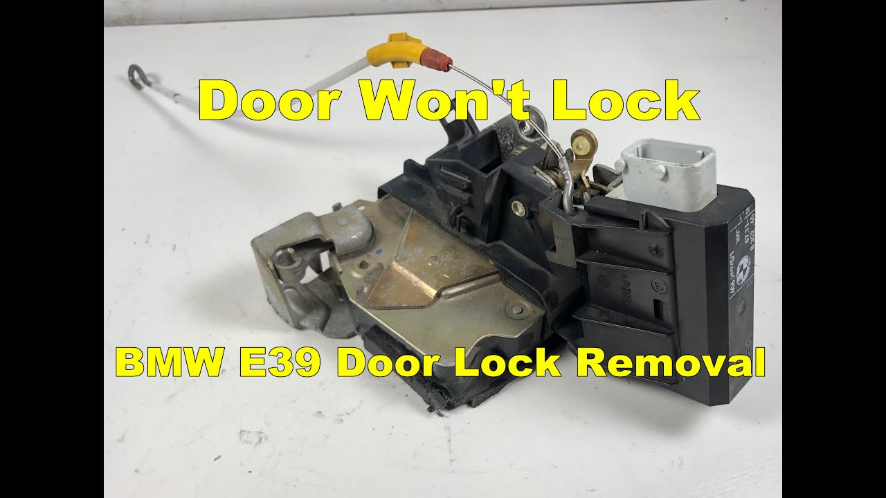 BMW E39 5-Series Exterior Door Handle Carrier Lock Actuator ...