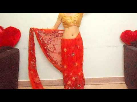 How To Carry Bridal Red Saree-Drape Designer Wedding Saree Blouse/Wear Indian Saari