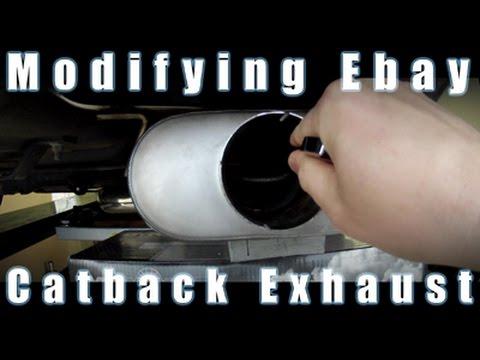 Modifying A Cheap Ebay Stainless Catback Exhaust For A Turbo Honda Using Dynomax VT Muffler