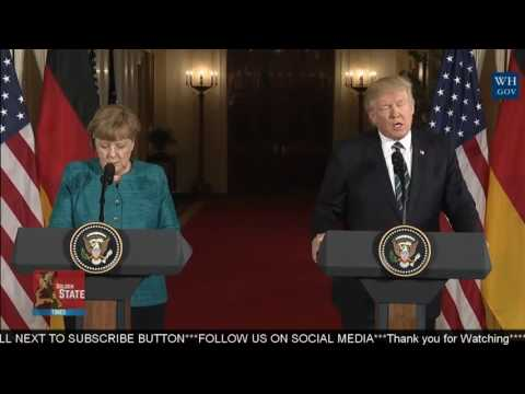 Thumbnail: WATCH: President Donald Trump has press Conference and Q and A with Angela Merkel of Germany