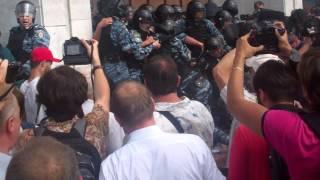 Газова атака під час бійки з Беркутом, 04.07.2012