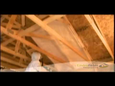 Enviro Foam Insulation - Roof Deck Insulation - YouTube