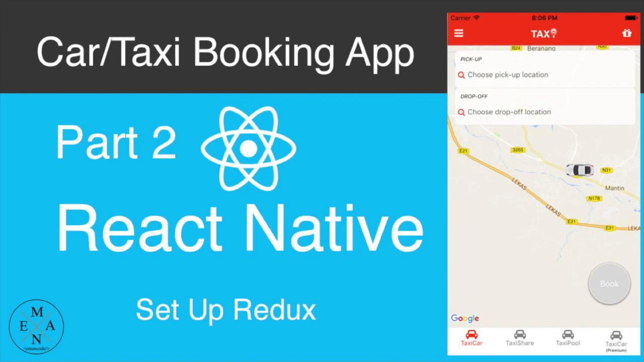 React Native Car/Taxi Booking App Part 1 - Development Environment