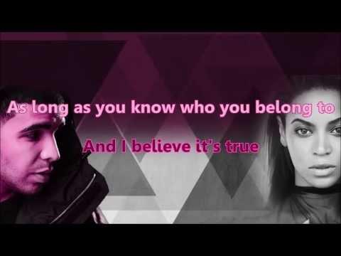 Beyonce - Mine ft. Drake Karaoke & Instrumental with lyrics