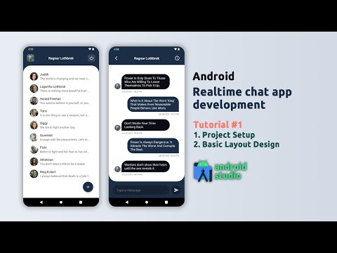 Android Chat App Development - Project Setup & Basic Layout Design - Android Studio - #1