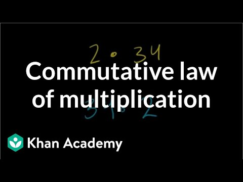Commutative law of multiplication | Arithmetic properties | Pre-Algebra | Khan Academy