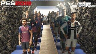 PES 2019 | JUVENTUS vs FC BARCELONA | C.Ronaldo vs L.Messi | Gameplay PC