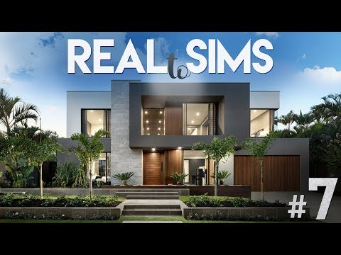 2+3 MODERN/ECLECTIC HOUSE | Real To Sims #7 + CC LIST | The Sims 4 Speed Modern House Build
