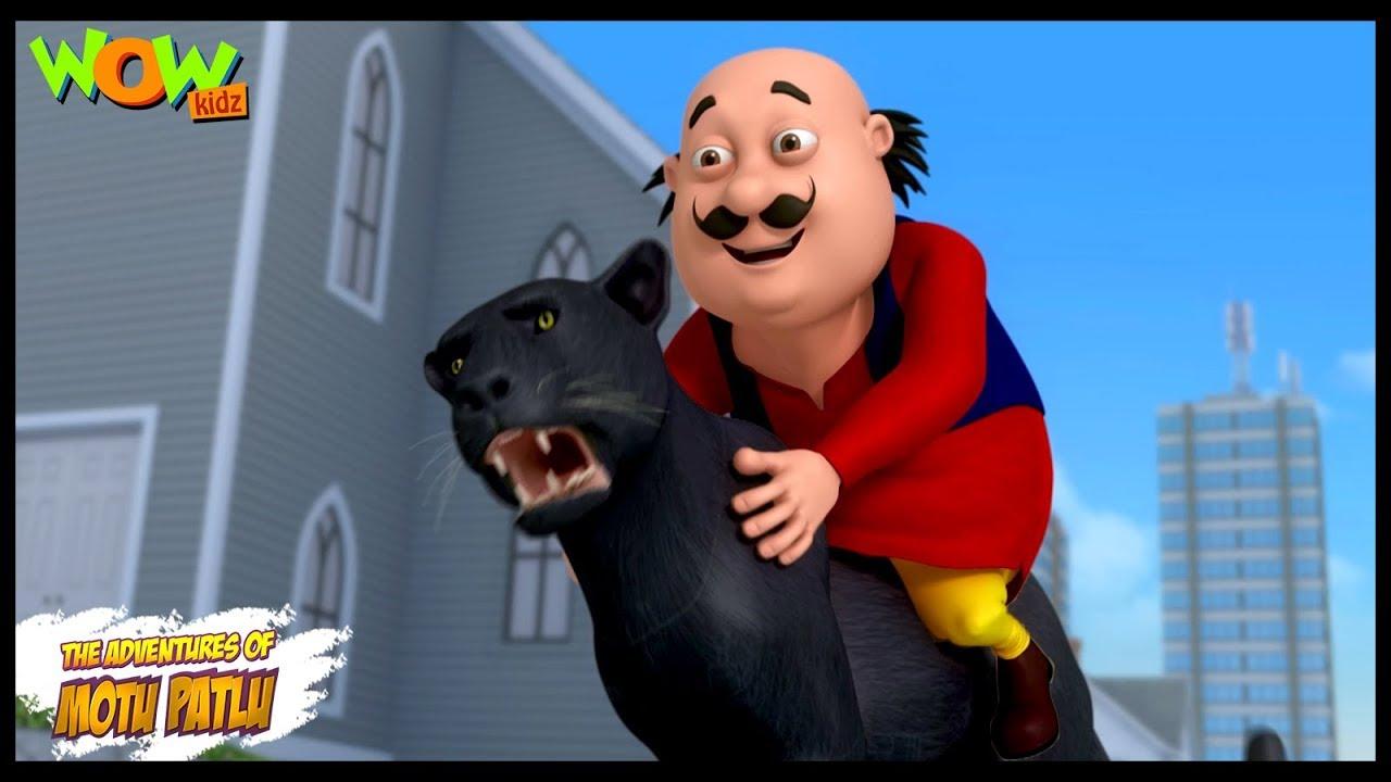 Download Motu Patlu New Episodes | Cartoons | Kids | Panther In Modern City | Wow Kidz