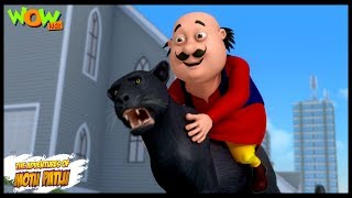 Motu Patlu New Episodes  Cartoons  Kids  Panther In Modern City  Wow Kidz