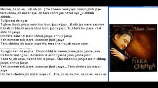 Tera Chehra Free karaoke with lyrics by Hawwa -