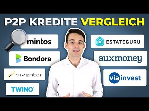 P2P Kredite VERGLEICH: Mintos, Bondora, EstateGuru, Auxmoney, Twino, Viainvest & Viventor im Check!