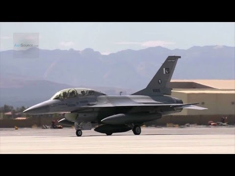 Pakistani F-16s Take-offs, Landings, Flight Line Activity, Air Refueling