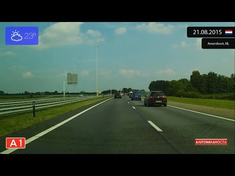 Driving from Amsterdam to Arnhem (Netherlands) 21.08.2015 Timelapse x4