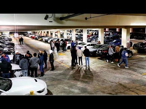 🔥 Parking garage car meet Dublin CA